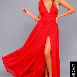Hot red dress
